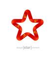 star with USSR flag colors and symbols design vector image vector image