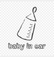 sticker - babe in car on a vector image vector image
