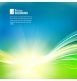 Sun shine rays with bokeh over abstract sky vector image vector image