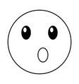 surprised emoticon face kawaii style vector image vector image