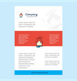 template layout for raining comany profile annual vector image vector image