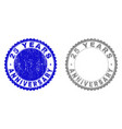 textured 25 years anniversary scratched stamp vector image vector image