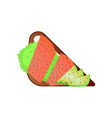 toasted sandwich with red fish salmon with vector image vector image