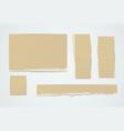 torn cardboard pieces vector image vector image