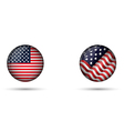 United States Flag Glossy Button vector image vector image