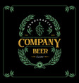 vintage label beer for brewery company premium vector image