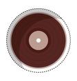 vinyl audio retro icon vector image vector image