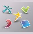 web icons set internet symbols 3d design vector image
