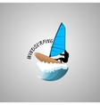 windsurfing logo vector image vector image