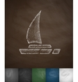 yacht icon Hand drawn vector image vector image