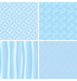 set of blue seamless patterns vector image