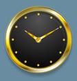 Abstract golden clock design vector image