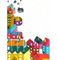 Small Town or City with Houses Roofs Landscape vector image