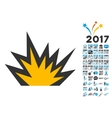 Boom Explosion Icon with 2017 Year Bonus vector image