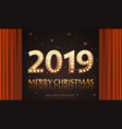 2019 count numbers for greeting card merry vector image