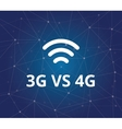 3g vs 4g with wifi signal and dot blue as vector image vector image