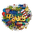 4th july independence day hand lettering vector image