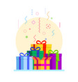 abstract gift boxes composition vector image vector image
