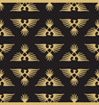 abstract seamless pattern with heraldic eagles vector image vector image