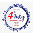american independence day of 4th july with round vector image