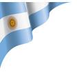 argentina flag on a white