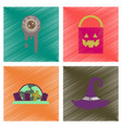 assembly flat shading style icons halloween zombie vector image vector image