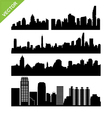 Bangkok skyline silhouettes set 2 vector image