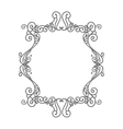 beautiful floral frame decoration vector image