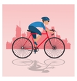 bike and cyclist icons image vector image vector image