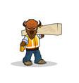 bull constructor colored mascot logo vector image vector image