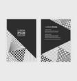 business annual report brochure flyer design vector image