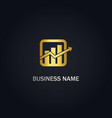 business arrow graph gold logo vector image vector image