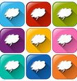 Buttons with empty cloud templates vector image vector image