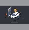 car rent online service concept customer has vector image vector image