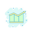 cartoon colored chart growth icon in comic style vector image