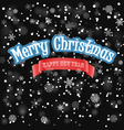 Christmas background with snowfall vector image vector image