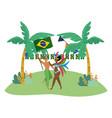 couple celebrating brazil carnival vector image