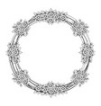 daisy flowers circle frame vector image vector image