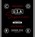 denim usa design typography vector image vector image