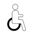 disable person isolated icon vector image vector image