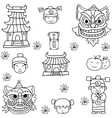 Doodle of Chinese element collection vector image vector image