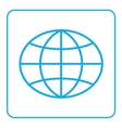Earth globe icon Global world sign vector image