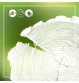 ECO poster with logo and Annual tree growth rings vector image