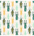 ethnic tribal seamless pattern with insects vector image vector image
