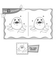find 9 differences game black seal vector image vector image