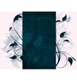 Floral frame with swirls and place for text vector image