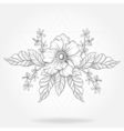 Freehand boho tattoo Blackwork flower in hipster vector image vector image