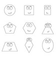 geometric shapes with funny faces vector image