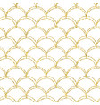 gold glitter mermaid tail seamless pattern vector image
