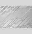 grey tech abstract geometric background vector image